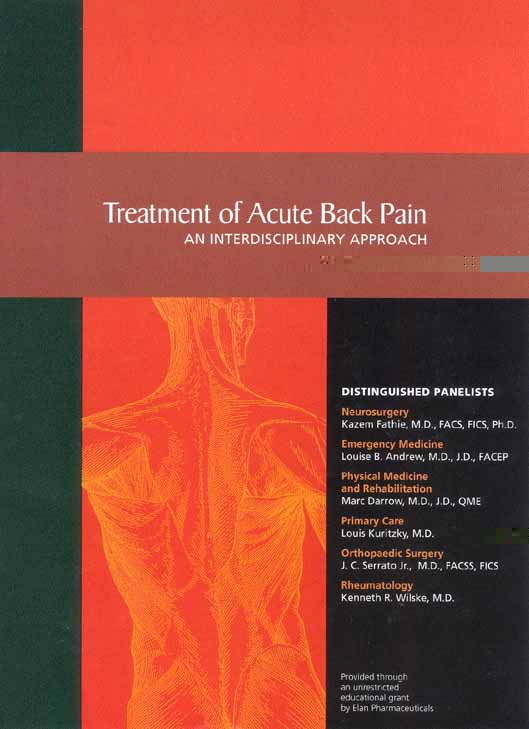 Treatment of Acute Back Pain - AANOS Education